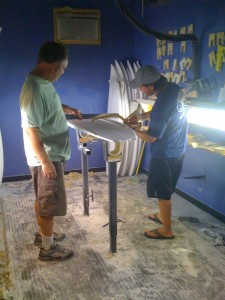Cole and John in the shaping room!