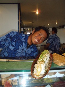 Ask for Mako!! Here he is with the blackened tuna roll...