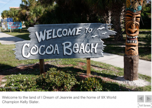 Cocoa Beach... if you have never been you need to go.  There is not always surf, but there is plenty of entertainment around if it goes flat on you..
