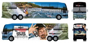 Keep your eyes peeled for Donavon`s Tour bus coming to a town near you!
