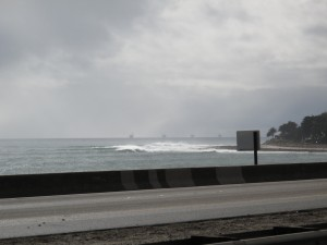 Driving up to the Queen of the Coast