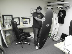 "Matt ""Mayhem"" Biolos checkin out his new toy"