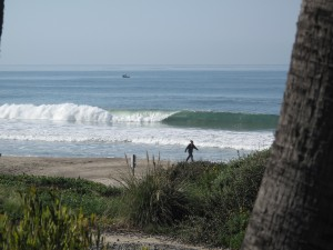 Lots of lefts to be had at the beach breaks..
