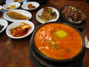 Epic Korean food... Perfect after running down the trail and surfing for three hours!