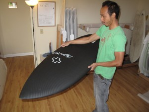 The nose is super sick as well, it blends a pointier shortboard nose with a wide fishy template.