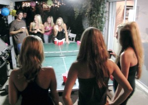 Girls love beer pong...