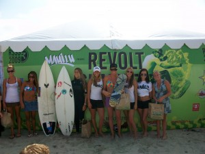 The girls stepped up to the challenge as well at the Revolt Surf Series!