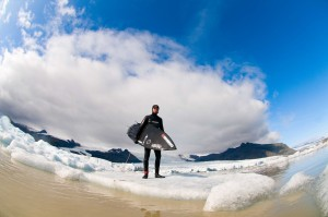 Ian adrift in Iceland with his 5`5 New Toy. Photo by Tim Nunn
