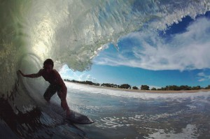 Here is a shot from the first day of the trip before the swell really filled in...