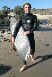 WQS warrior and SC resident Nate Yeomans made it up for the swell as well. Here he is with my 5`5 RNF.