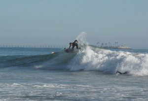 The conditions were perfect for the RNF. Here is Nate again cracking one off the top...