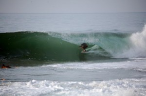 Ian has been getting tubed like this on 5`5 Aviso all year down south...