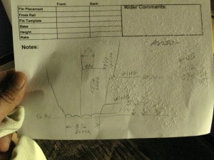 "Some of Cole`s notes on his ""Tornado Tail"", showing there is a lot of method to his madness..."