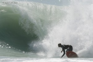 Collins on his 5`6 RNF on one of the biggest waves I have ever seen in Miami