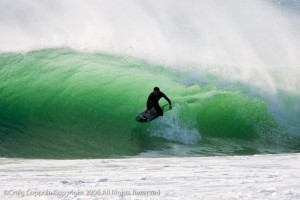 2010 `CT warrior Nate Yeomans on is 6`2 Rusty Aviso during one of the best swells I can remember in Orange County...